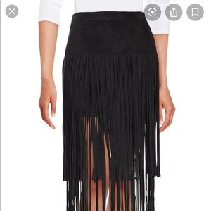 Design Lab Lord & Taylor Skirts - Lord and Taylor faux suede fringe skirt